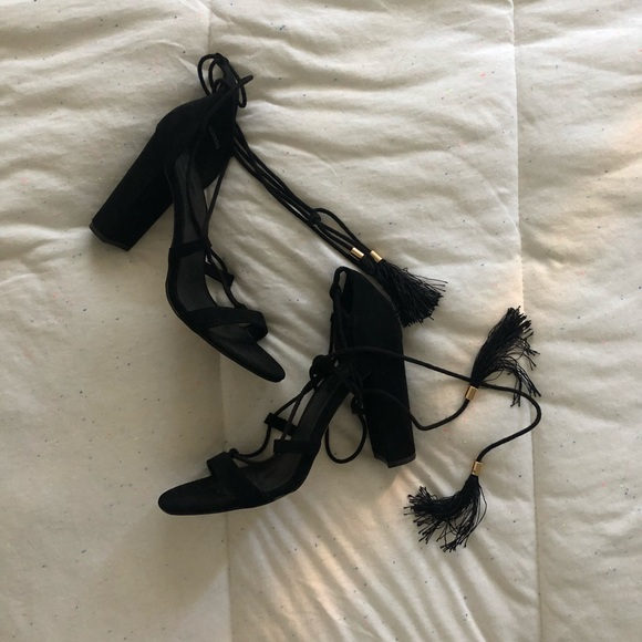 Forever 21 Shoes - Faux Suede Lace Up Heels